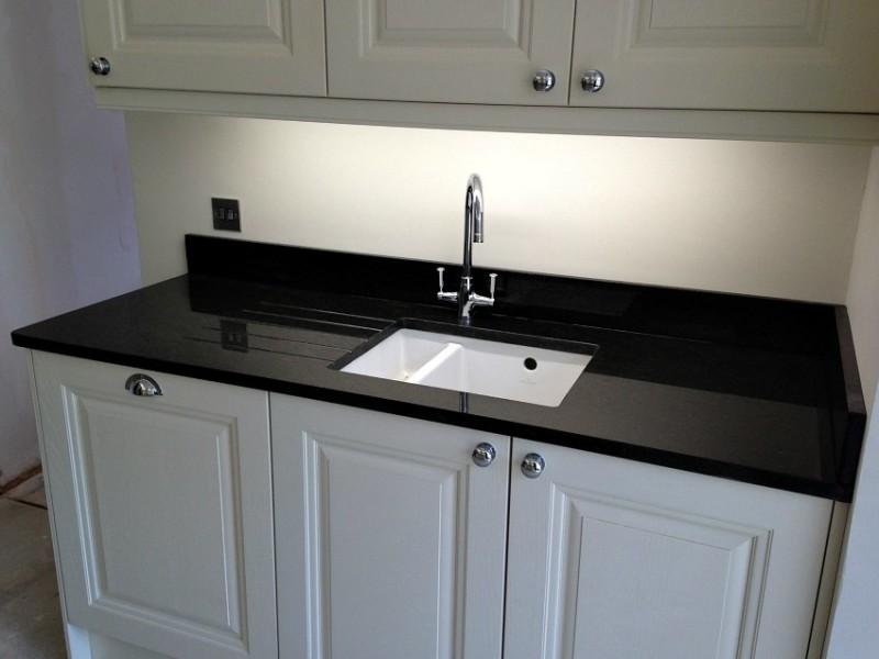 Black Granite Kitchen Worktop : Black Granite Worktops Black Pearl Worktop 2